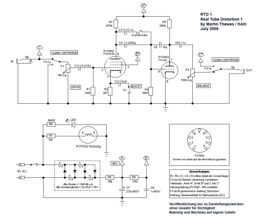 Tube Overdrive Guitar Schematics Html Get Free Image